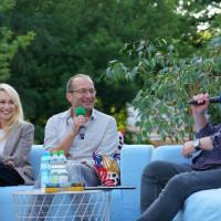 Od lewej: Monika Sobień-Górska, Robert Górski oraz prowadzący spotkanie redaktor Piotr Pawłowski